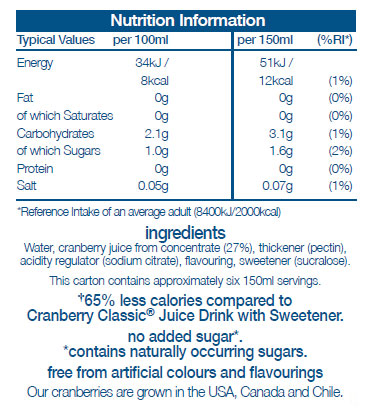 Cranberry Classic® Light Juice Drink